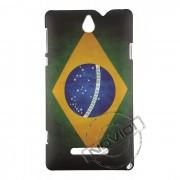 Capa Personalizada Bandeira do Brasil para o Sony Xperia E