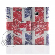 Capa Carteira Bandeira da Inglaterra para LG Optimus L3 II Dual E435