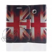 Capa Carteira Bandeira da Inglaterra para LG Optimus L3 II Dual E435 - Modelo 2