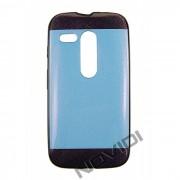 Capa Personalizada Multicolor com Glitter para Motorola Moto G - Cor Azul e Roxa