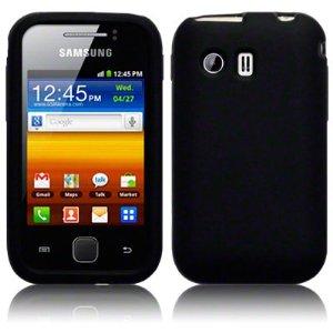 Capa de silicone Premium para Samsung Galaxy Y GT-S5360 - Cor preto