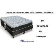 Conjunto Box  Luckspuma Roma Molas Ensacadas 138x188