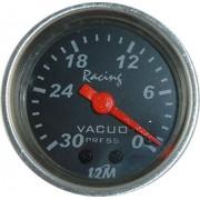 Rel�gio Vacu�metro 12M Racing Future 52mm Mostrador Preto Aro Alum�nio Luz Verde
