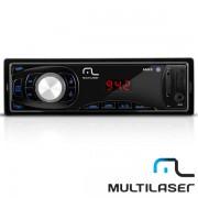 R�dio Automotivo Multilaser FM MP3 Max Som P3208 c/ USB Cart�o Auxiliar