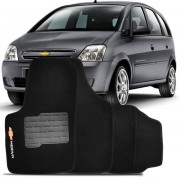 Tapete Automotivo Personalizado Carpete Meriva Preto Jogo 4 pe�as