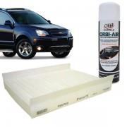 Filtro Ar Condicionado FC1304 GM Captiva 2010 em diante + Limpa Ar Condicionado