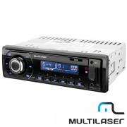 R�dio Automotivo Multilaser Talk P3214 Bluetooth - com Entrada Auxiliar e USB