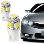 L�mpada 5 Leds Smd Ping�o Lanterna Dianteira e Pisca � Par