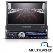 R�dio DVD Tela Retratil 7� Motion P3238 Multilaser c/ TV Digital Bluetooth USB GPS