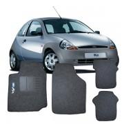 Tapete Automotivo Personalizado Carpete For Ka  96 at� 2007 Grafite Jogo 4 pe�as