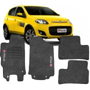 Tapete Automotivo Personalizado Carpete Palio 2012 Grafite Jogo 4 pe�as