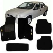 Tapete Automotivo Personalizado Carpete Corsa Preto Jogo 5 pe�as