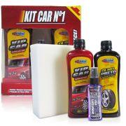 Kit Limpa carro Aromatizante Preteador Esponja Shampoo
