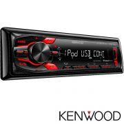 R�dio Automotivo JVC KENWOOD KMM-108U USB e Auxiliar 4x22w frente destacavel