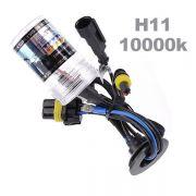 L�mpada Xenon TechOne H11 10000K Reposi��o Unidade