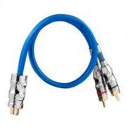 Cabo RCA Taramps Y 1F + 2M Azul