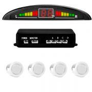 Sensor de Estacionamento TechOne com Display 4 Pontos Cor Branco