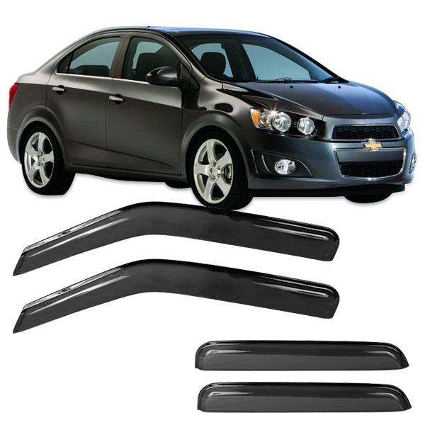 Calha de Chuva Acrílica Adesiva Chevrolet Sonic Hatch – 4 portas - AutoParts Online