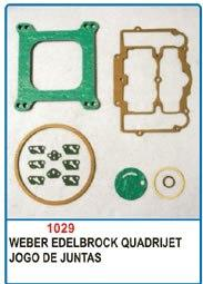 Kit de reparo do carburador Weber Edelbrock Quadrijet  - Bunnitu Peças e Acessórios