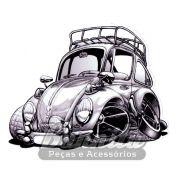 Adesivo modelo - VW Fusca Cartoon