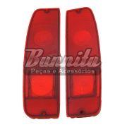 Lente acrílica da lanterna traseira sem ré para Ford F100 1975 à 1979 e Pampa 1981 à 1988