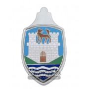 Emblema Bras�o do capo Mod. Wolfsburg para VW Fusca at� 1966