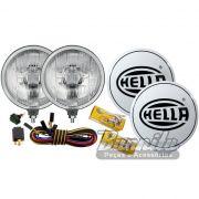 Par de farol de milha, auxiliar modelo Hella 500 com lente semi quadriculada