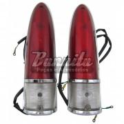 Par de lanternas traseira para Aero Willys 1965 à 1966
