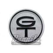 Emblema GT prata do volante Walrod para Ford Corcel e Maverick