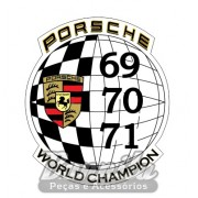 Adesivo para vidro modelo Porsche World Champion