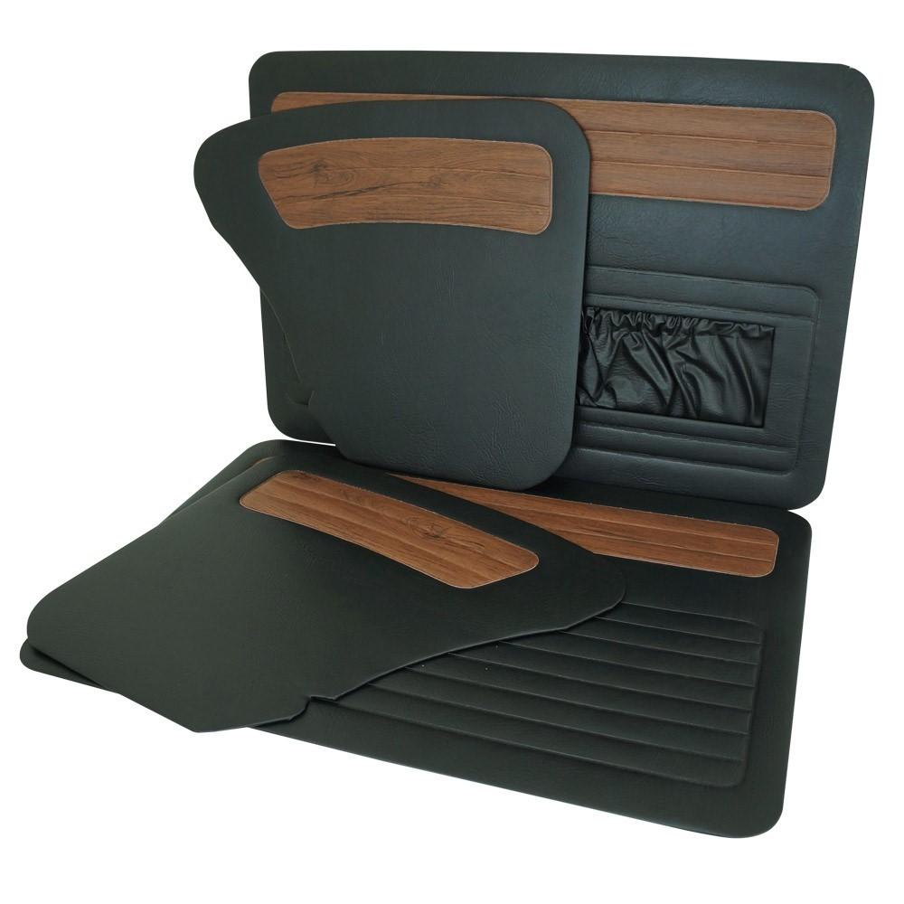 Forração de porta e lateral preto com Jacarandá para VW Fusca  - Bunnitu Peças e Acessórios