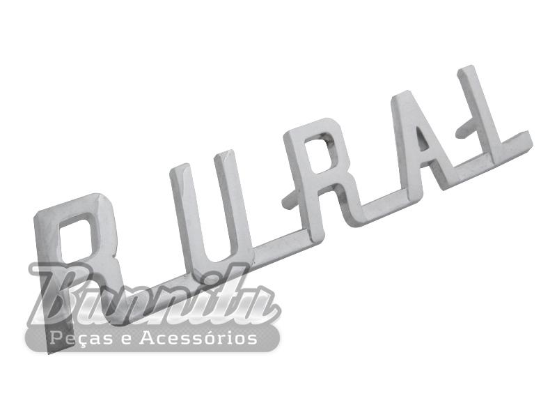 Emblema lateral para Ford Rural Willys  - Bunnitu Peças e Acessórios