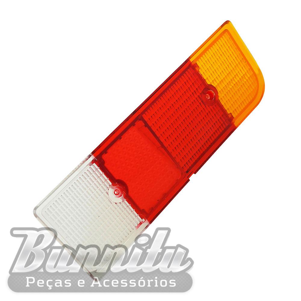 Lente da lanterna traseira modelo tricolor para GM Chevette tubarão 1973 à 1979  - Bunnitu Peças e Acessórios
