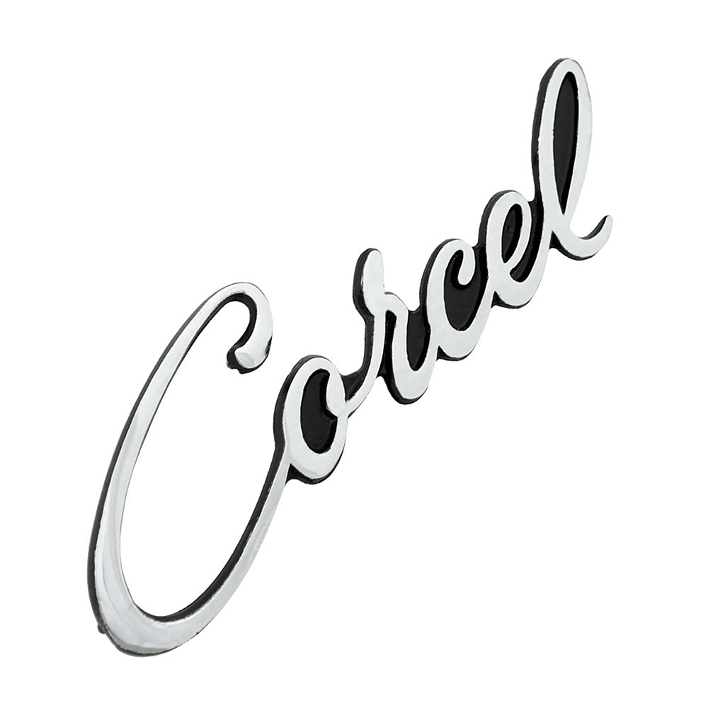 Emblema manuscrito modelo fundo preto para Ford Corcel 1  - Bunnitu Peças e Acessórios