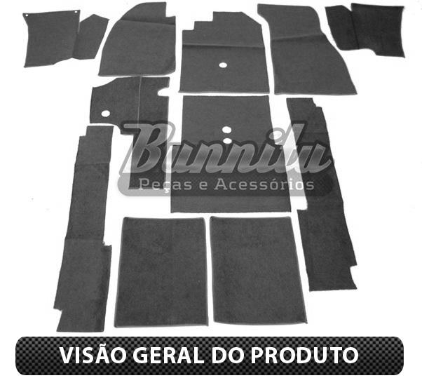 Revestimento modelado em carpete na cor marrom para VW Fusca  - Bunnitu Peças e Acessórios