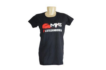 Camiseta Baby look Feminina MKSCombat #LUTECOMHONRA