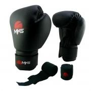 Luva de Boxe Prospect MKS Preta 14 oz + bandagem