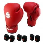 Luva de Boxe Prospect MKS Vermelha 14 oz +  03 bandagem