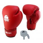 Luva de Boxe Prospect MKS Vermelha 14 oz + Protetor Bucal