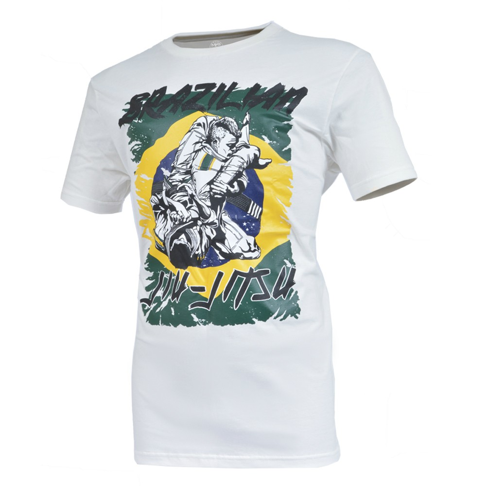 Camiseta MKS Nations Brazilian Jiu-Jitsu Creme (Off White)