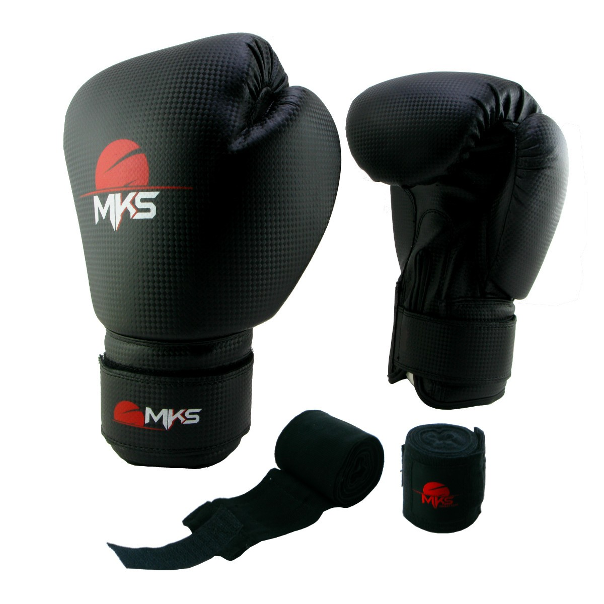 Luva de Boxe Prospect MKS Preta 16 oz + bandagem
