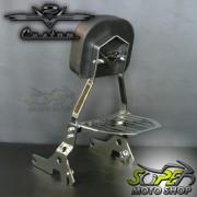 Sissy Bar / Encosto Traseiro Cromado ou Preto Modelo Destac�vel HD XL 883 R / 1200 / Iron - Harley D
