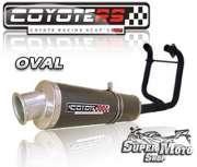 Escape / Ponteira Coyote RS4 Fibra de Carbono 2x1 Oval- CB 400 / CB 450 - Super Moto Shop