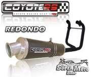 Escape / Ponteira Coyote RS4 Fibra de Carbono 2x1 Redondo  CB 400 / CB 450 - Super Moto Shop
