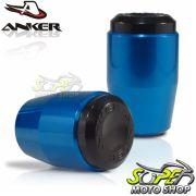Slider Dianteiro Anker Monster 796 2013 em Diante - Azul Anodizado - Ducati