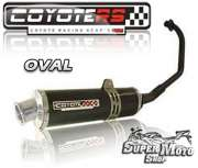 Escape / Ponteira Coyote RS4 Fibra de Carbono - Oval YBR 125 - Super Moto Shop
