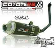 Escape / Ponteira Coyote RS4 Fibra de Carbono - Oval CBX 250 Twister - Super Moto Shop