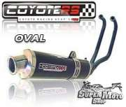 Escape / Ponteira Coyote RS4 Fibra de Carbono - Oval ER 5 - Super Moto Shop