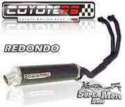 Escape / Ponteira Coyote RS4 Fibra de Carbono Redondo - GS 500 - Super Moto Shop