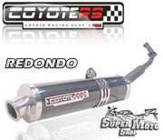 Escape / Ponteira Coyote RS4 Fibra de Carbono Redondo - Crypton - Super Moto Shop